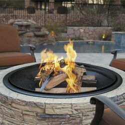 Outdoor Propane Fire Pit Backyard Deck Heater Round Stone Cast Patio Fireplace