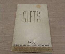 Rare Revere Copper & Brass Deco Chrome GIFTS Catalog - 1936 - Norman Bel Geddes