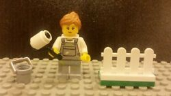 Lego NEW City Female Painter With Fence and Bucket From 60134