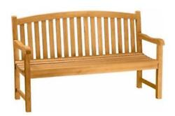 Teak Wood Garden Furniture Curve Back 3 Person Bench Seat – By Anderson Teak