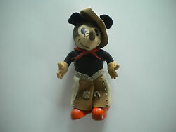 1930s Knickerbocker Mickey Mouse Cowboy Doll wChaps Scarf Hat 4 Whiskers RARE