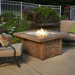 The Outdoor GreatRoom Co Sierra Crystal Fire Pit Table