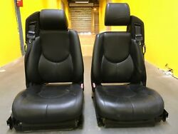 1996 - 2002 MERCEDES SL500 R129 LEFT AND RIGHT SEAT CUSHION BLACK LEATHER OEM