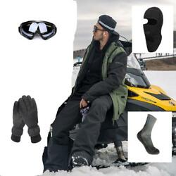 D128 Men Ski Snowboard Jacket+Pants+Gloves+Goggle+Balacalava+Socks S M L XL XXL