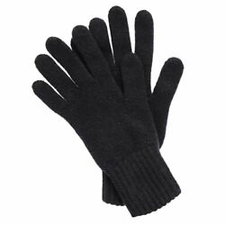 Men's Cashmere Gloves in Black One Size Made in Scotland Top Quality Three-Ply