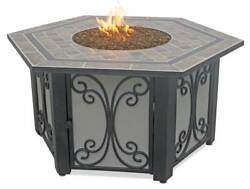 LPG Outdoor Fire Bowl with Slate Tile Mantle [ID 3418948]