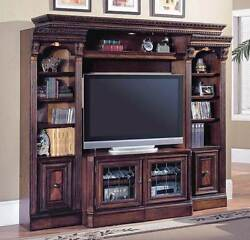 4 Pc Entertainment Center Wall w Expandable Console - Huntington [ID 14273]