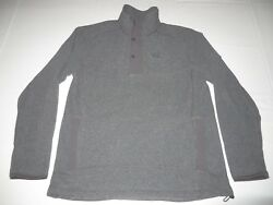 Mens The North Face TKA 200 Fleece 12 Snap Neck Pullover Sweater Large Gray