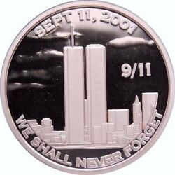 1 oz Copper Round 9 11 We Shall Never Forget $2.70