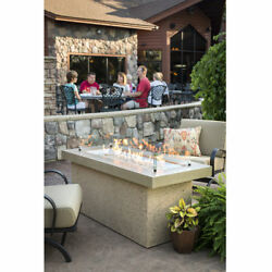 The Outdoor GreatRoom Co Key Largo Crystal Fire Pit with Brown Supercast Top