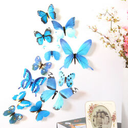 New Wall Decorations 12pcs 3D Stickers Butterflies For Home 3D Stick Butterfly $2.49