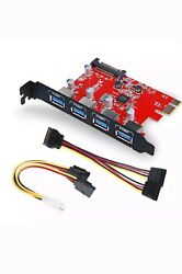 Inateck SuperSpeed 4 Ports PCI E to USB 3.0 Expansion Card KTU3FR 4P $33.00