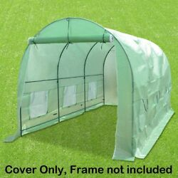 STRONG CAMEL Hot Green House Cover for 12' X 7' X 7' Larger Walk In Outdoor DOES