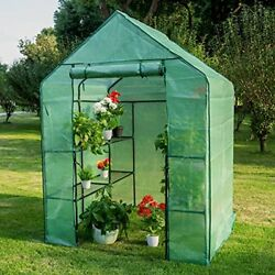 Portable Greenhouses Gardening Large Tier Shelf Steeple House And PE Cover Walk