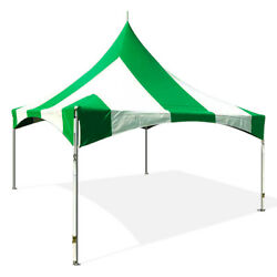 Commercial Party Tent 20x20' High Peak Frame Wedding Event Canopy Green Vinyl