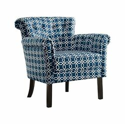 Homelegance Barlowe Flared Arm Accent Chair with Button Tufted Back Chain Li...