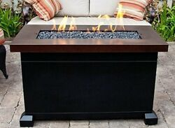 Gas Fire Pit Table Top Outdoor Heater Back Yard Patio Fireplace Deck Furniture