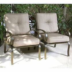 Cloud Mountain Set of 2 Club Chairs Outdoor Patio Wrought Iron Dining Chairs