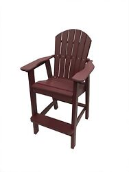 Phat Tommy Recycled Poly Resin Balcony Chair – Durable and Adirondack Patio