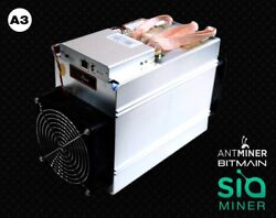 Ant miner A3 815ghs SIA Coin mining rig 1350watts The future of cloud storage! $2,900.00