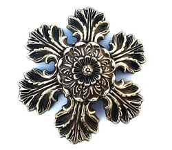 Flower Brass Antique Hardware Drawer Pull Knob Rococo French Provincial Country