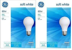 8 Pack GE 60 Watt Soft White Incandescent Light Bulbs -41028- $14.98