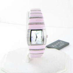 Rado Sintra R13652901 Pink Ceramic 18K White Gold Diamond Time To Fight Cancer