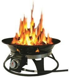 Cypress 21 in. Steel Portable Propane Fire Pit with Cover and Carry Kit Outdoor
