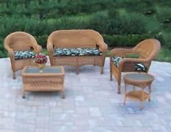 5-Pc Outdoor Seating Set in Natural [ID 3684291]