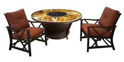 Gas Firepit Table Set in Antique Bronze [ID 3684275]