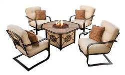 5-Pc Deep Outdoor Seating Chat Set in Antique Bronze [ID 3684225]