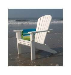 Seashell Recycled Plastic Outdoor Adirondack Armchair [ID 2259010]