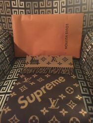 Louis Vuitton Supreme X Cashmere Brown Monogram Scarf - Brand New