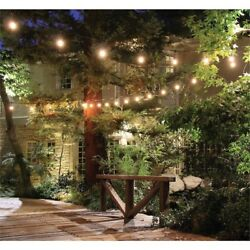 48 ft 24-Socket Filament LED String Light Set Indoor Outdoor Deck Patio Porch