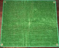 Outdoor Turf Rug  Aisle Runner – 12x20 Green – Artificial Grass with BOUND