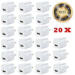 20x White 1A USB Power Adapter AC Home Wall Charger US Plug FOR iPhone 5S 6 7 8 $19.99