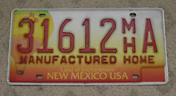 6 - NEW MEXICO BALLOON BASE MANUFACTURED HOME LICENSE PLATE 31612 MH A