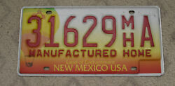6 - NEW MEXICO BALLOON BASE MANUFACTURED HOME LICENSE PLATE 31629 MH A