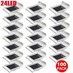 100PCS 24LED Human Body Motion Sensor Garden Lamp Outdoor Light Solar Powered AS