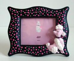 ReTrO DeSiGn Pink Poodle Polka Dot 3D Picture Frame Too Cute NEW HP $6.95