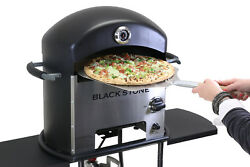 60000-Btu Outdoor Patio Cooking Portable Rolling Heavy Duty Metal Pizza Oven