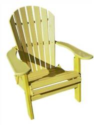 Phat Tommy Recycled Poly Resin Folding Deluxe Adirondack Chair in Yel [ID 89309]
