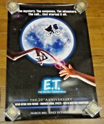 Rare ET Signed by 7 Movie Poster Drew Barrymore Steven Spielberg 27