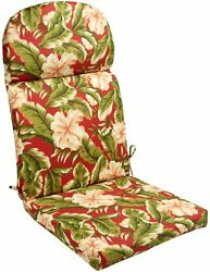 Adirondack Chair Cushion Seat Pad Indoor Outdoor Cushioned Padded Garden Palms