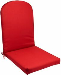 Adirondack Chair Cushion Seat Pad Patio Indoor Outdoor Cushioned Padded Red