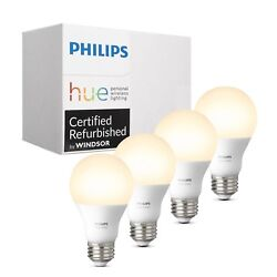Philips 472027 Hue White Dimmable 60W A19 Gen 3 Smart Bulbs - 4-Pack $35.99