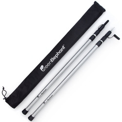Adjustable Telescoping Aluminum Tarp and Tent Poles Portable Camping Hiking $63.99