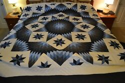 NEW Amish Handmade Quilted Improved Broken Star 104x118