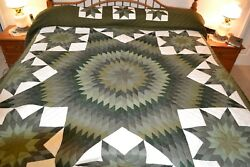 NEW Amish Handmade Quilted Star In Stars 107W x 119L