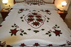 NEW Amish Handmade Quilted & Appliqued Celtic Rose 96x111